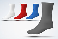Realistic layout of socks. A simple example Stock Images