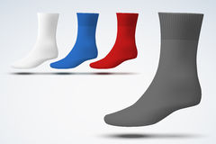 Realistic layout of socks. A simple example Royalty Free Stock Photo