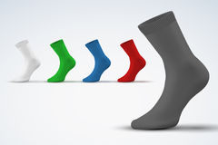 Realistic layout of socks. A simple example Royalty Free Stock Photos