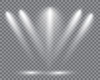 Realistic led lights from projector. royalty free illustration