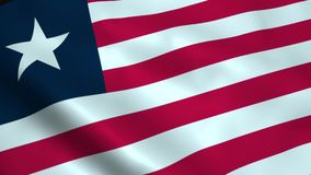 Realistic Liberia flag. Waving in the wind Royalty Free Stock Image