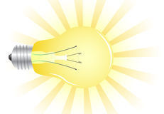 Realistic light bulb Royalty Free Stock Photo
