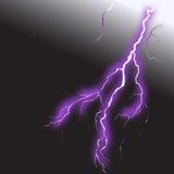 Realistic lightning 2. Realistic lightning on black background 2 Stock Photos