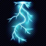 Realistic lightnings. royalty free illustration