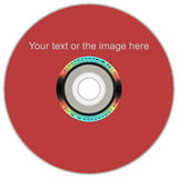 Realistic LightScribe DVD Royalty Free Stock Photo