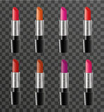 Realistic lipstick package template for your design. Rouge tube mock-up product on a transparent background. Cosmetics Royalty Free Stock Images