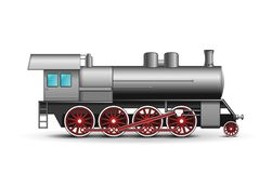 Vector Locomotive Royalty Free Stock Images