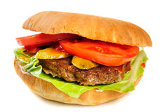 Realistic looking hamburger Stock Images