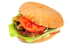 Realistic looking hamburger Royalty Free Stock Photography