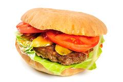 Realistic looking hamburger Royalty Free Stock Photo