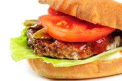 Realistic looking part of hamburger Stock Photos