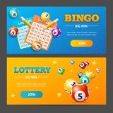 Realistic Lotto Banner Horizontal Set. Vector. Realistic Detailed 3d Lotto Game Banner Horizontal Set Place for your Text. Vector illustration of Banners Lottery vector illustration