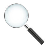 Realistic magnifier isolated on white background -  illust. Ration Stock Photos