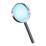 Realistic  magnifying glass. Illustration of a realistic  magnifying glass Stock Images