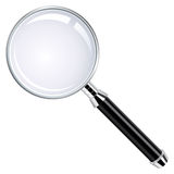 Realistic Magnifying Glass Stock Image