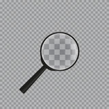 Realistic magnifying glass on checkered background royalty free illustration