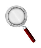 Realistic Magnifying Glass With Wooden Grip Royalty Free Stock Photography