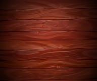 Realistic Mahogany wooden vector background Stock Photo