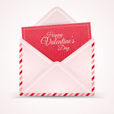 Realistic Mail Envelope, Letter Valentine's Day. Stock Image