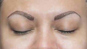 Realistic Makeup Eyebrow Tattoos Royalty Free Stock Photo