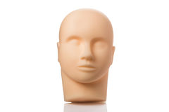 Realistic mannequin head. Isolated on white background royalty free stock image