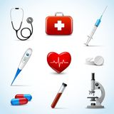 Realistic Medical Icons Royalty Free Stock Photo