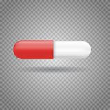 Realistic medicine pill,  pharmaceutical drug. Vector illustration Royalty Free Stock Photos