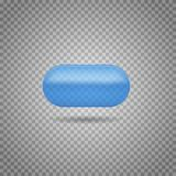 Realistic medicine pill,  pharmaceutical drug. Vector illustration Royalty Free Stock Images