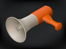 Realistic megaphone isometric sign Royalty Free Stock Photos