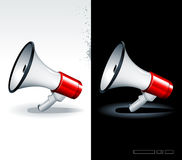 Realistic megaphones. Just set of realistic megaphones Royalty Free Stock Images