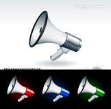 Realistic megaphones Stock Images