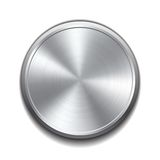 Realistic metal button Stock Image