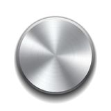 Realistic metal button Stock Photography
