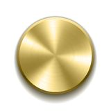 Realistic metal button Royalty Free Stock Photography