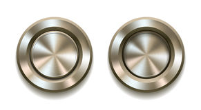Realistic metal button Royalty Free Stock Image