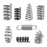 Realistic Metal Springs royalty free illustration
