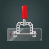Realistic metal switch. Isolated red tumbler Stock Photography