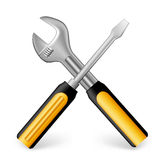 Realistic Metallic Maintenance Tools Icon Stock Photo