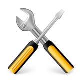 Realistic Metallic Maintenance Tools Icon Stock Photo
