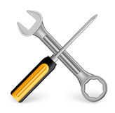 Realistic Metallic Maintenance Tools Icon Royalty Free Stock Photo