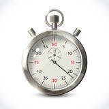 Realistic metallic stopwatch stock illustration