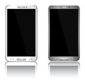 Realistic mobile phone with blank screen Stock Image