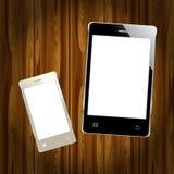 Realistic mobile phone smartphone Stock Image