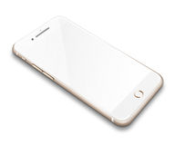 Realistic mobile phone  on white background. Realistic mobile phone touch screen smartphone with blank screen with shadows  on white background Stock Photos