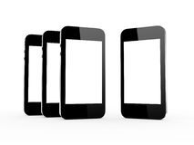 Realistic Mobile Phones Royalty Free Stock Image