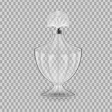 Realistic mock-up, template of flacon spray for freshness. Realistic mock-up, template of flacon spray. Cosmetic spray, mockup design perfume, cologne. Care of Royalty Free Stock Photo
