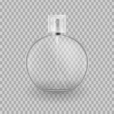 Realistic mock-up, template of flacon spray for freshness. Realistic mock-up, template of flacon spray. Cosmetic spray, mockup design perfume, cologne. Care of Royalty Free Stock Images