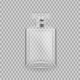 Realistic mock-up, template of flacon spray for freshness. Realistic mock-up, template of flacon spray. Cosmetic spray, mockup design perfume, cologne. Care of Stock Images