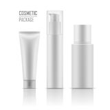 Realistic mockup for cosmetic products. vector illustration