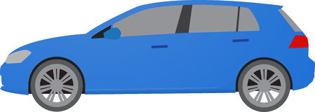 Realistic model car  on background. Detailed drawing. Vector illustration. Royalty Free Stock Photos